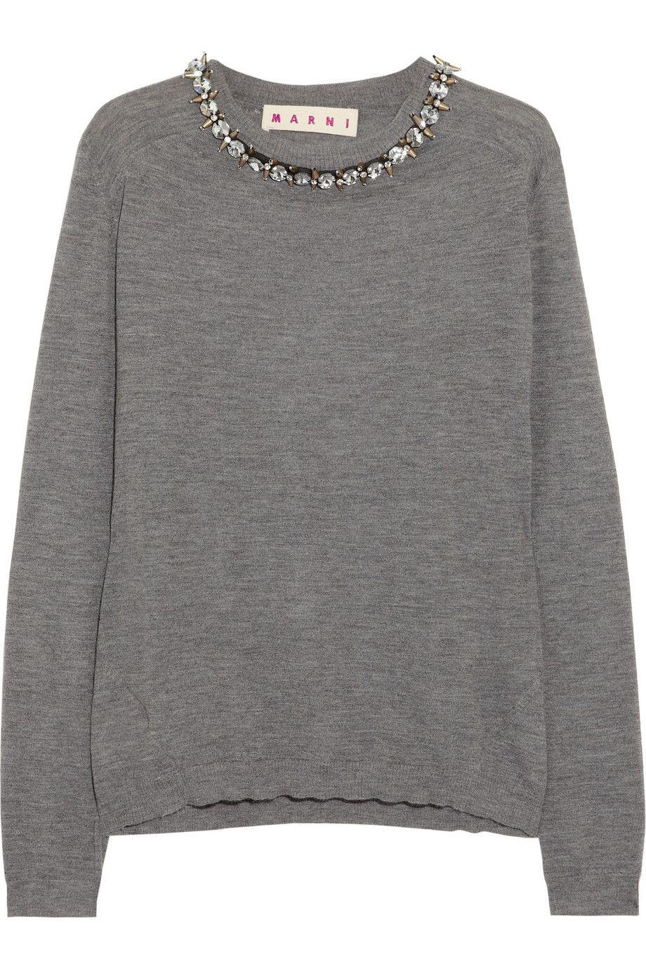 Marni Embellished Cashmere Sweater Net A Portercom Buy Me