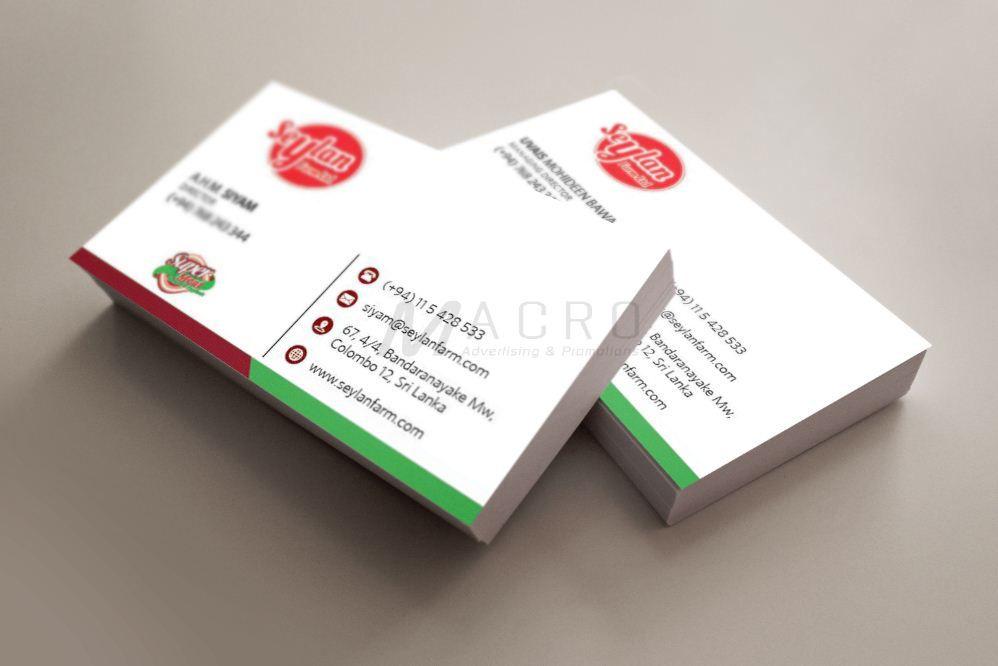 Business Card Designing Printing For Seylan Farm Macro Portfolio