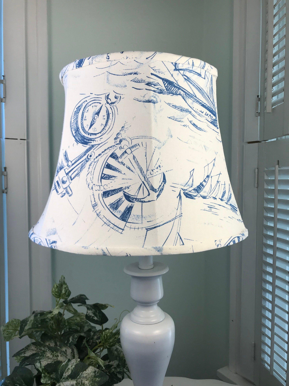 Nautical Lamp Shade Coastal Lamp Shade Sailboat Lamp Shade