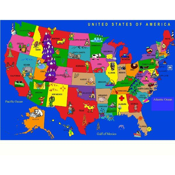 Image Result For Maps United States Cartoons Milligan Mountain - The map of the united states