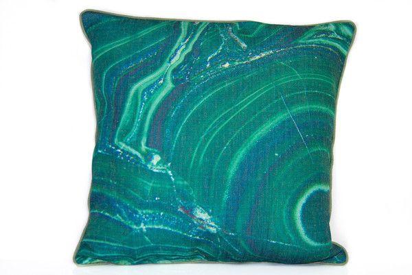 Green Agate | Throw pillows, Linen
