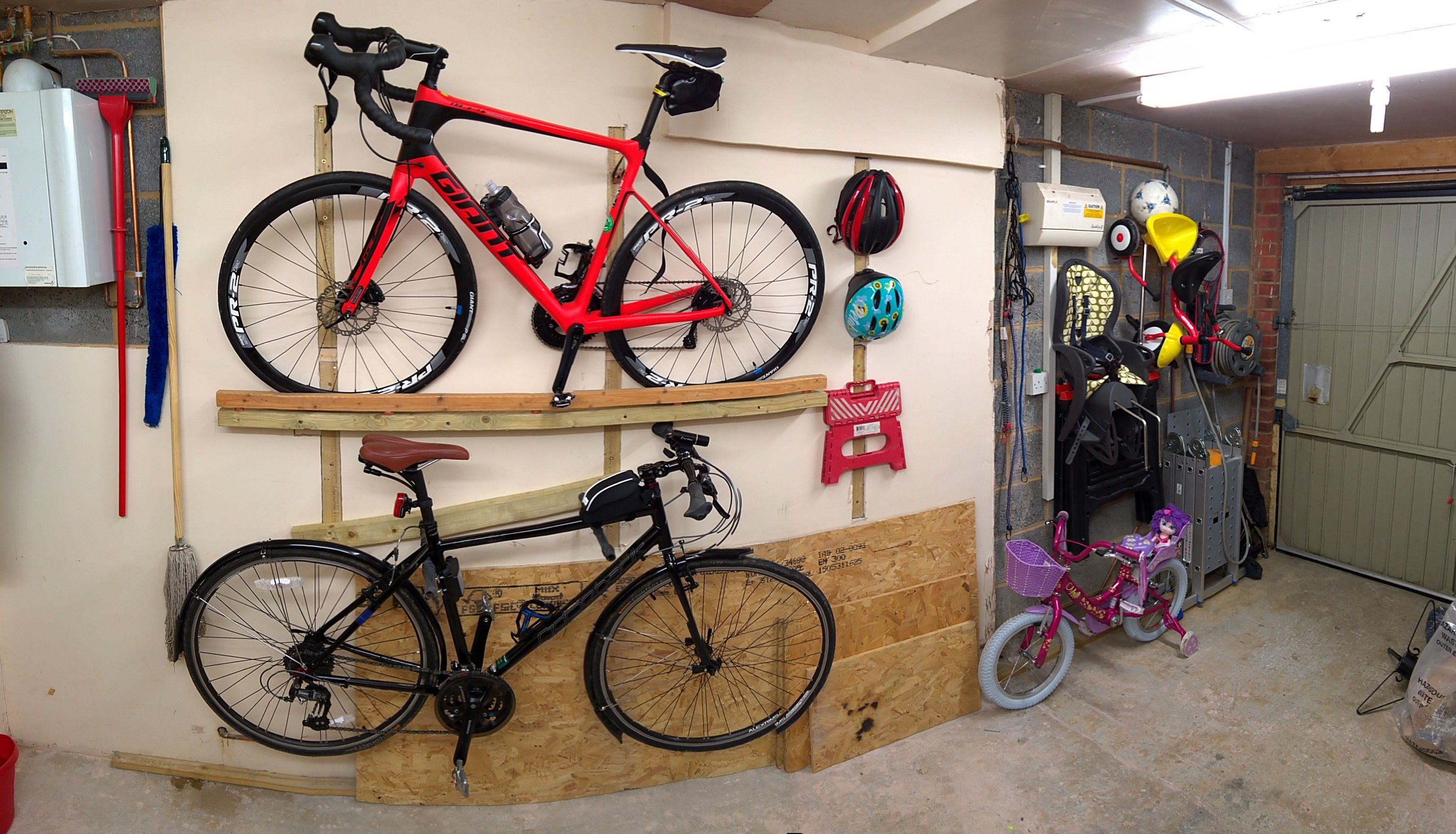 Two Bicycle Racks For Top Rack I Used 2X4 Bolted