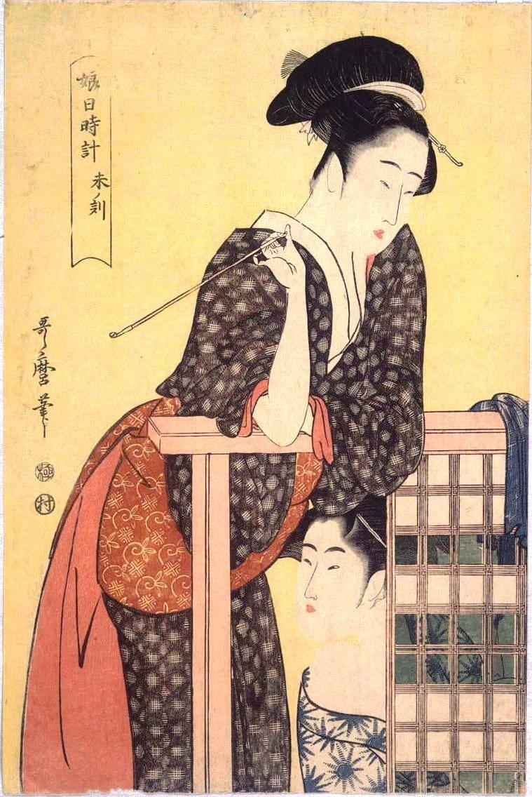 Jp Edo 喜多川 歌麿 Utamaro Kitagawa 1753ー1806 おしゃれ