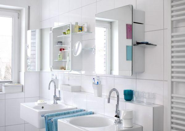 doppelpack wandregal ideen spiegelschrank badezimmer Splish