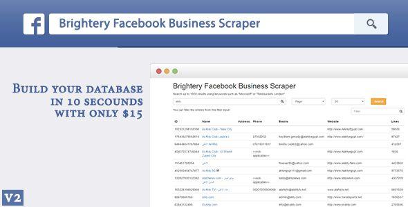 Brightery Basic Facebook Business Scraper - https://codeholder.net ...