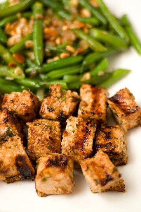Жареная свинина с рыбным соусом и зеленой фасолью | Рецепт ...