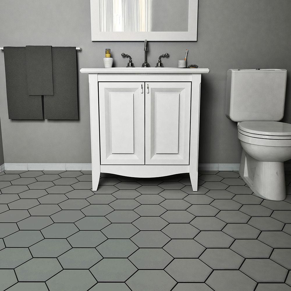 Merola tile hexatile matte gris 7 in x 8 in porcelain floor and merola tile hexatile matte gris 7 in x 8 in porcelain floor and wall dailygadgetfo Image collections