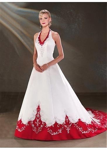 Fabulous Satin Halter Wedding Dress