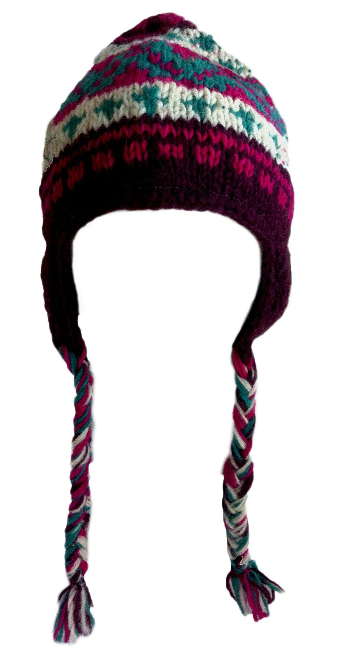 Amazon.com  Nepal Hand Knit Sherpa Hat with Ear Flaps a000894ff04