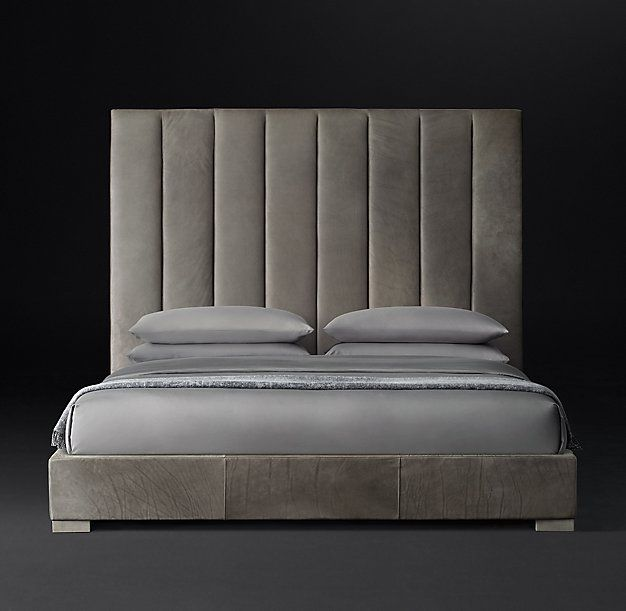 Best Vertical Channel Panel Leather Platform Bed Leather 400 x 300
