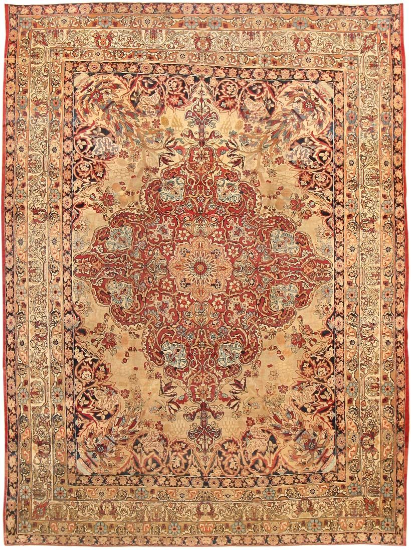 antique Kerman Persian Rug