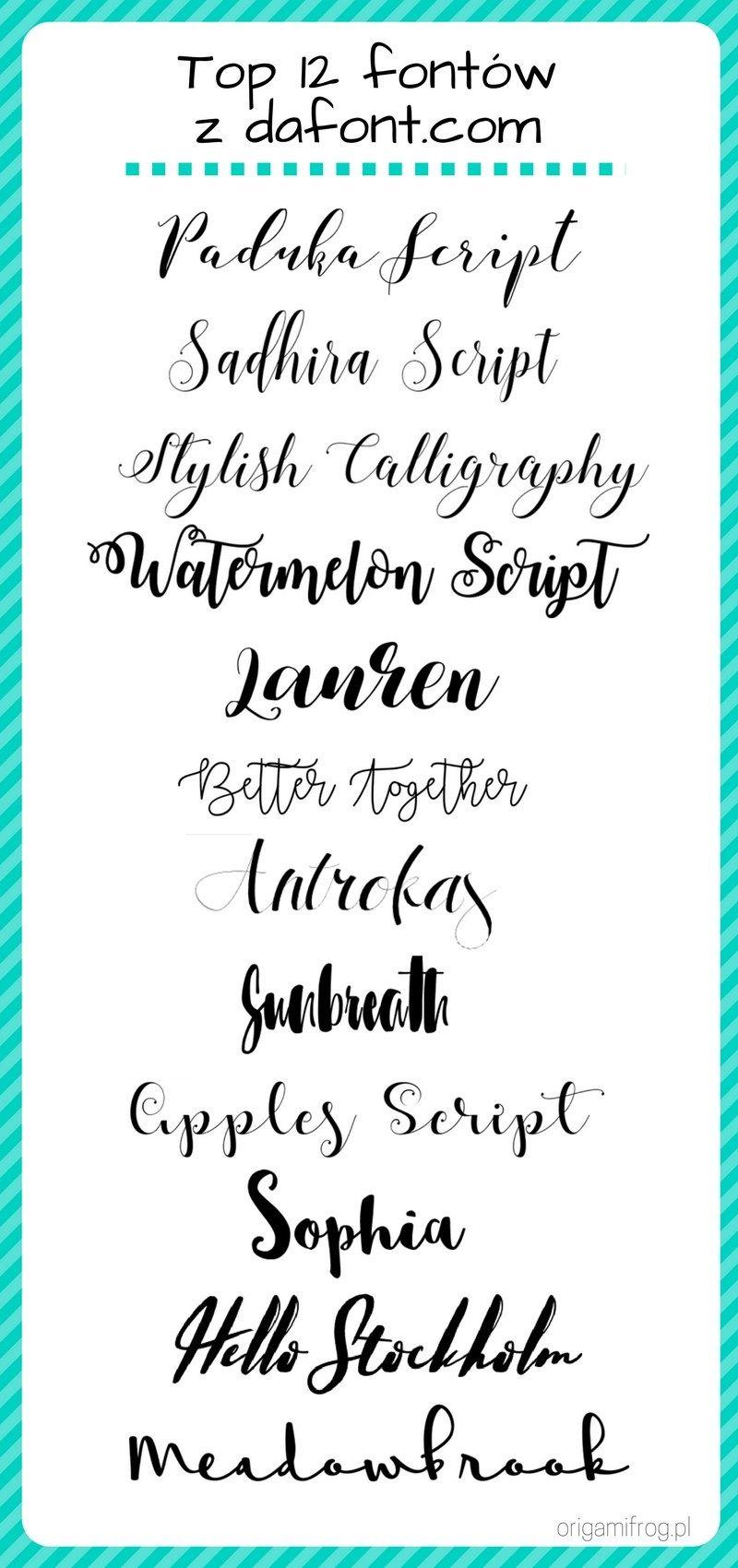 Jak Robic Piekne Napisy Hand Lettering I Oszukana Kaligrafia