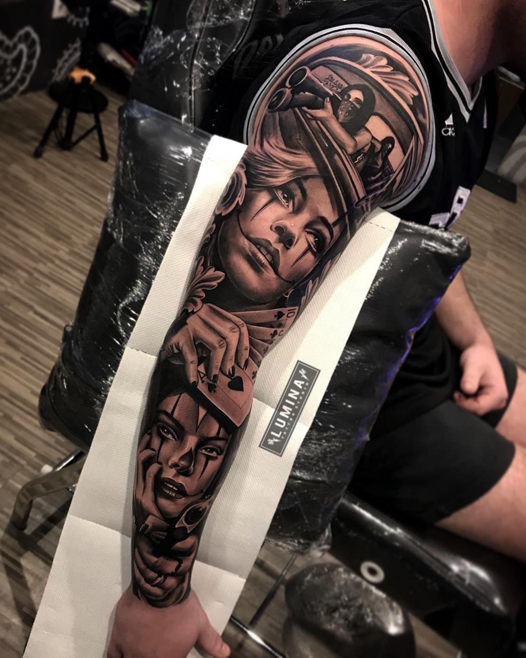 Gangsta Woman Sleeve Leg Tattoos Women Sleeve Tattoos For Women Sleeve Tattoos