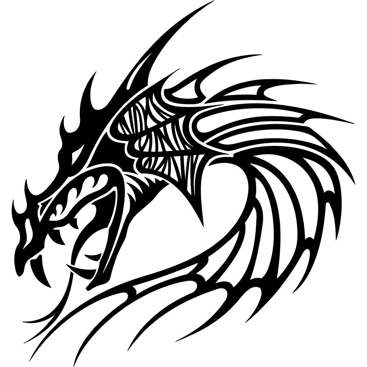 Cabezas De Dragones Para Tatuar pin de patricia iannone en siluetas - dragones | tatuajes