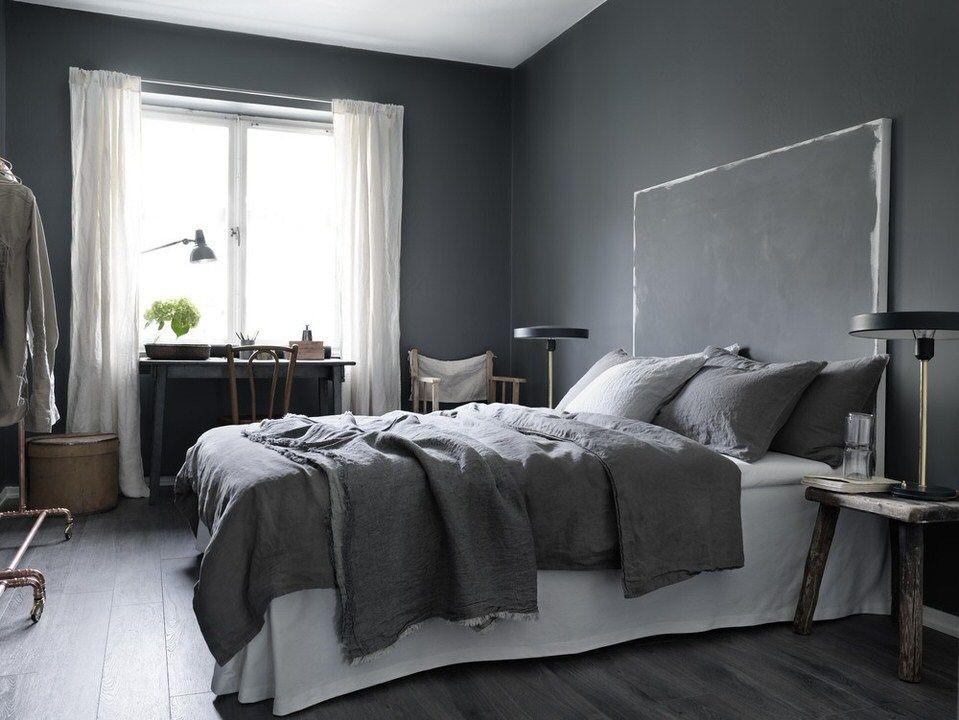 Charcoal Grey Bedroom 3 beautiful dark grey bedrooms | bedrooms, desks and house