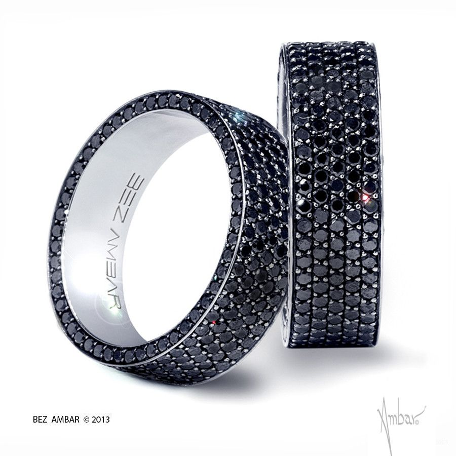 men black diamond wedding band