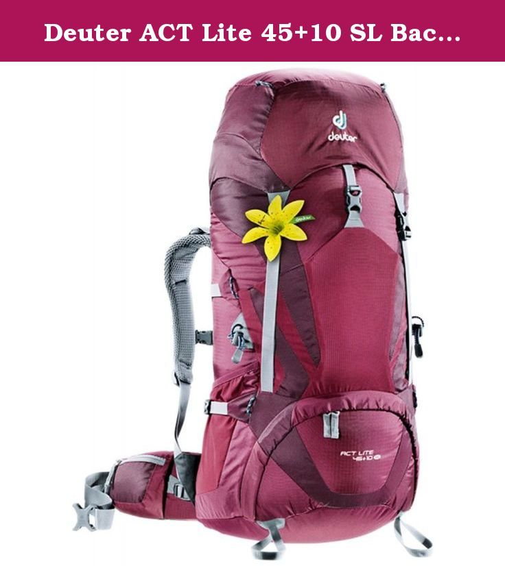 Deuter Act Lite 45 10 Sl Backpack Blackberry Aubergine Athletic Sleek And Spacious Pack For Any Hiking Trekking Or Mountaineering Out