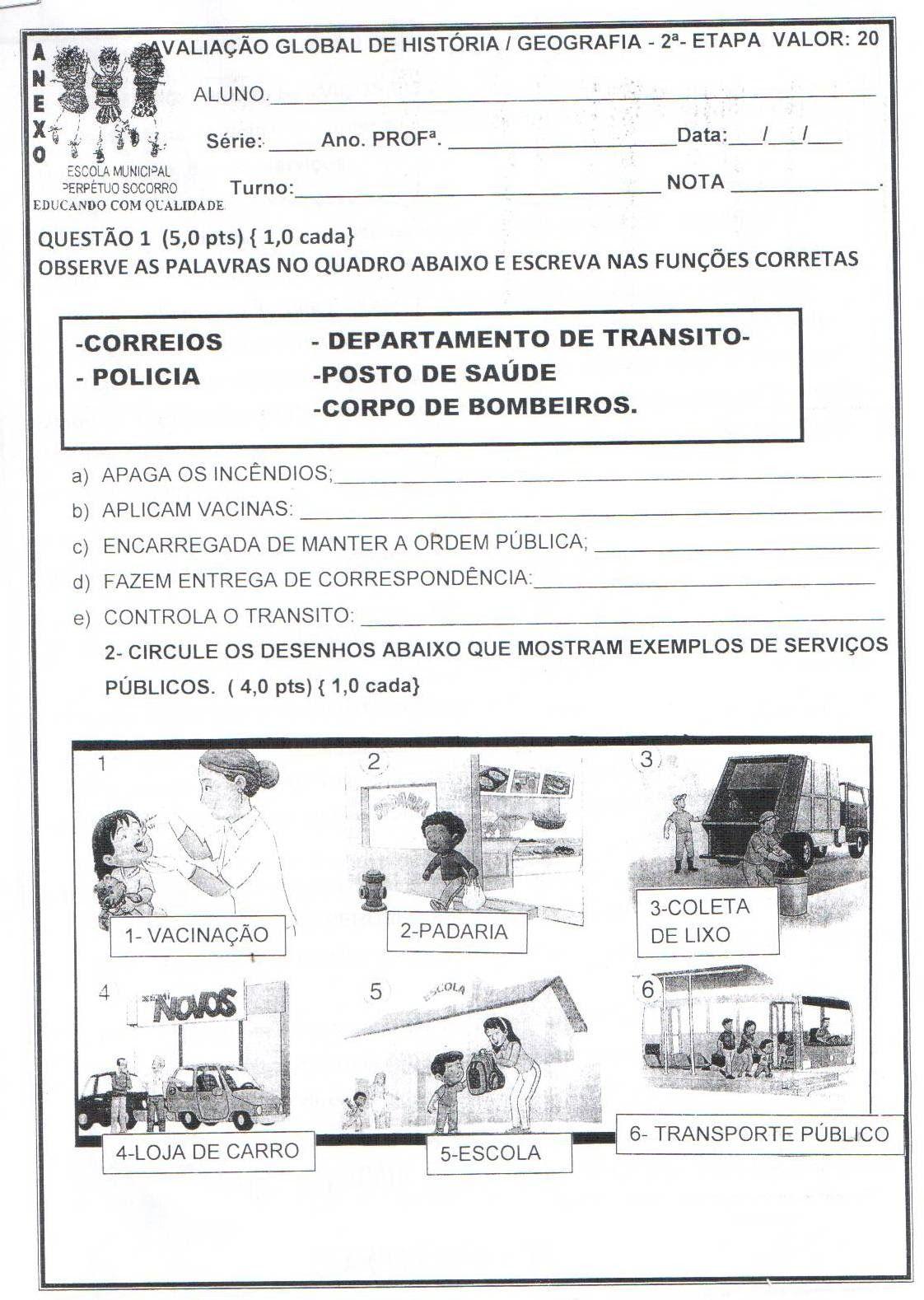 Avaliacao Sobre Servicos Publicos Do Municipio Com Imagens