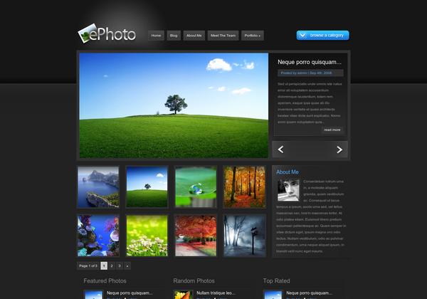 #ePhoto_WordPress_theme is a photo #gallery_WordPress_theme . For Download Visit: http://www.premiumthemes4u.com/2014/04/ephoto-wordpress-theme.html