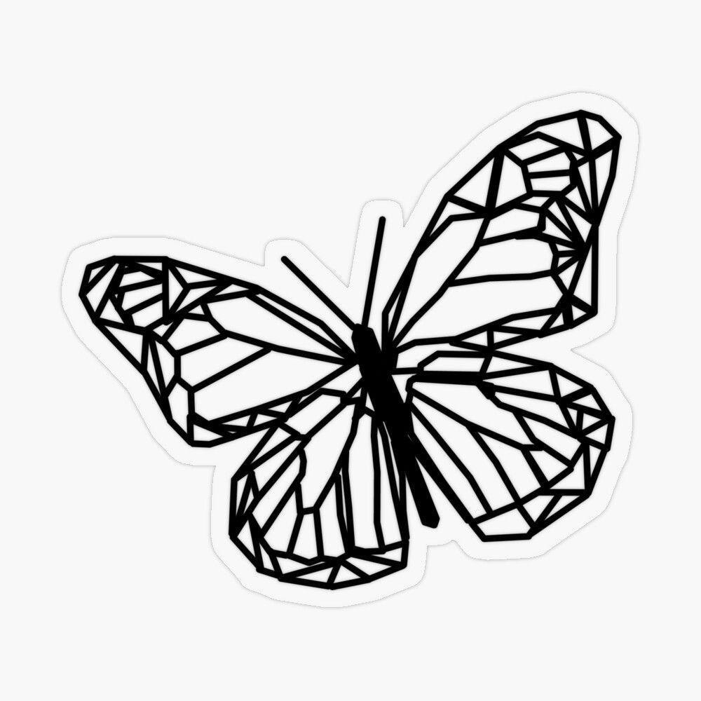 Black And White Butterfly Sticker By Amy Shimizu In 2021 Black And White Stickers White Butterfly Black And White
