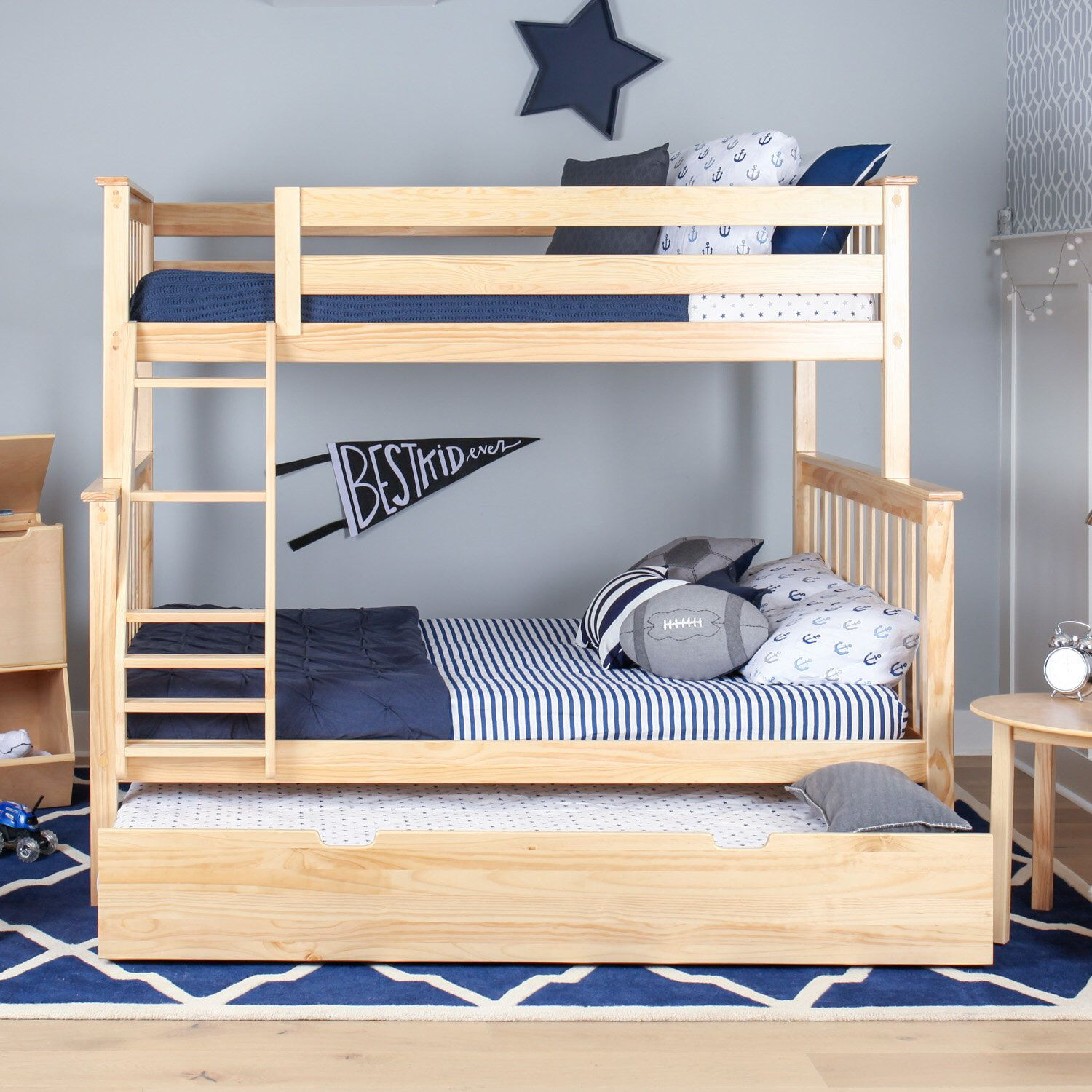 Juliann Bunk Bed With Trundle Bunk Bed With Trundle Wood Bunk
