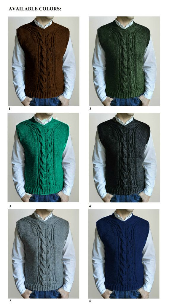 Hand knitted men\'s vest | Pinterest | El chaleco, Tejido y Hombre mujer