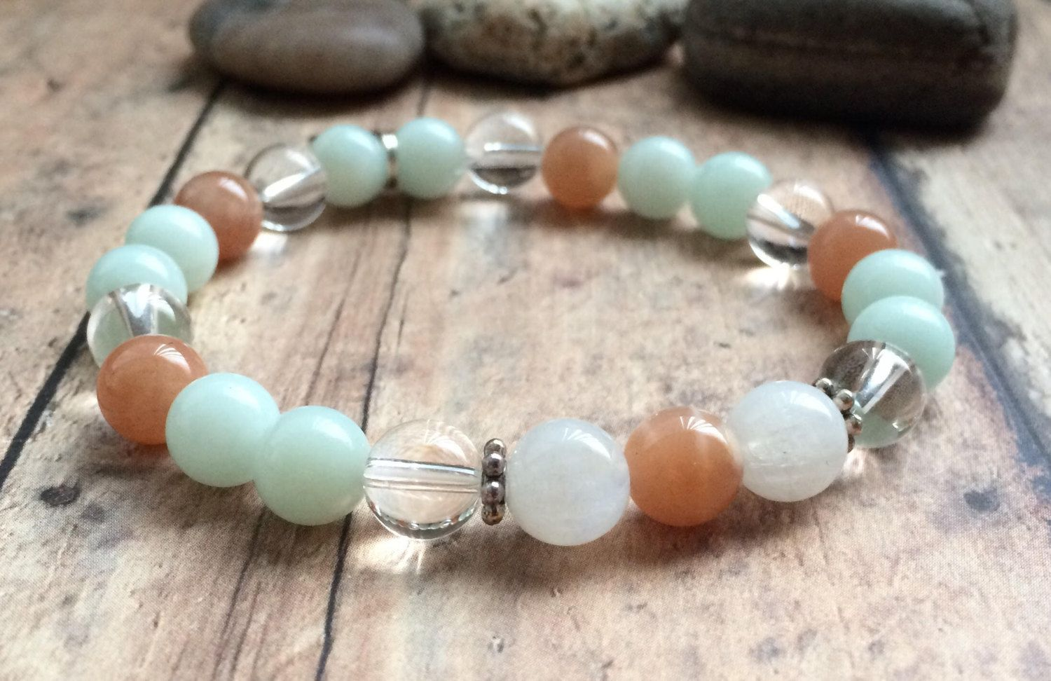Fertility Bracelet Infertility Jewelry Ttc Crystals Sunstone