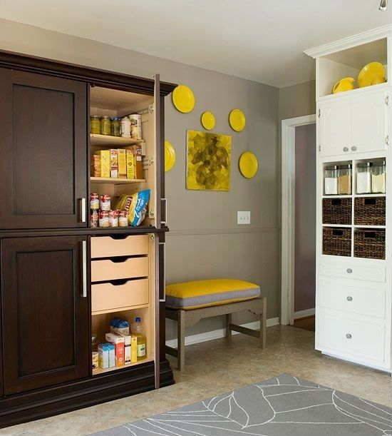 Contemporary Pantry With Crown Molding Ikea Gislev Area Rug Low