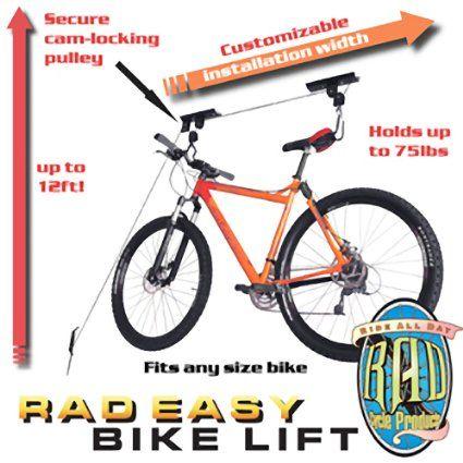 Heavy Duty Bike Lift Bicycle Garage Storage Lift Kayak Hoist Hanger Rack 100lbs