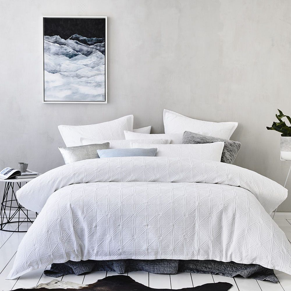 Home Republic Villa White Bedroom Quilt Covers Coverlets Adairs Online Fabulous