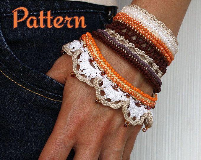 Crochet Pattern Turkish Delight Cuff Pdf Crochet Pattern Crocheted