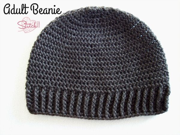 Adult Beanie For Man Or Woman Free Crochet Pattern Stitch11
