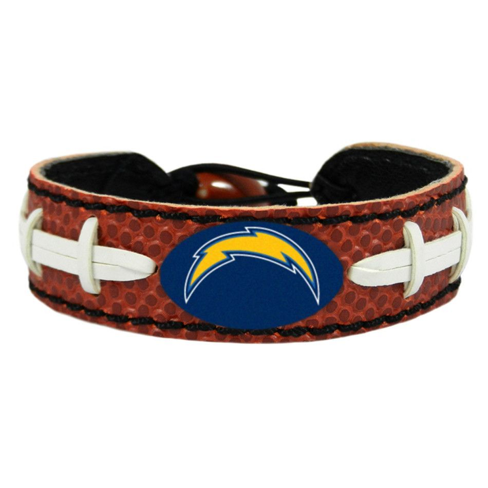 San Diego Chargers Laced Football Leather Bracelet