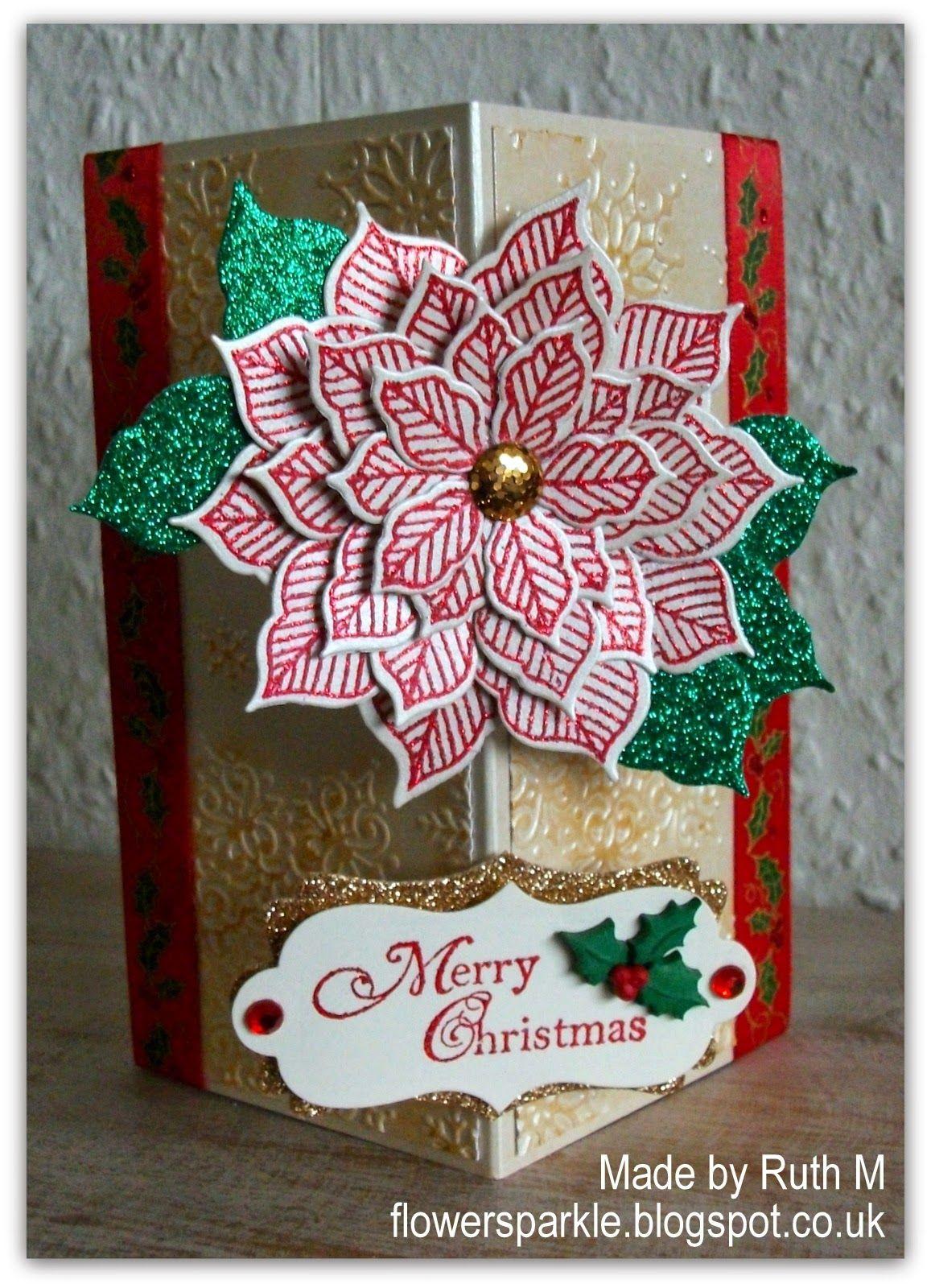 flower sparkle  merry christmas card christmas cards