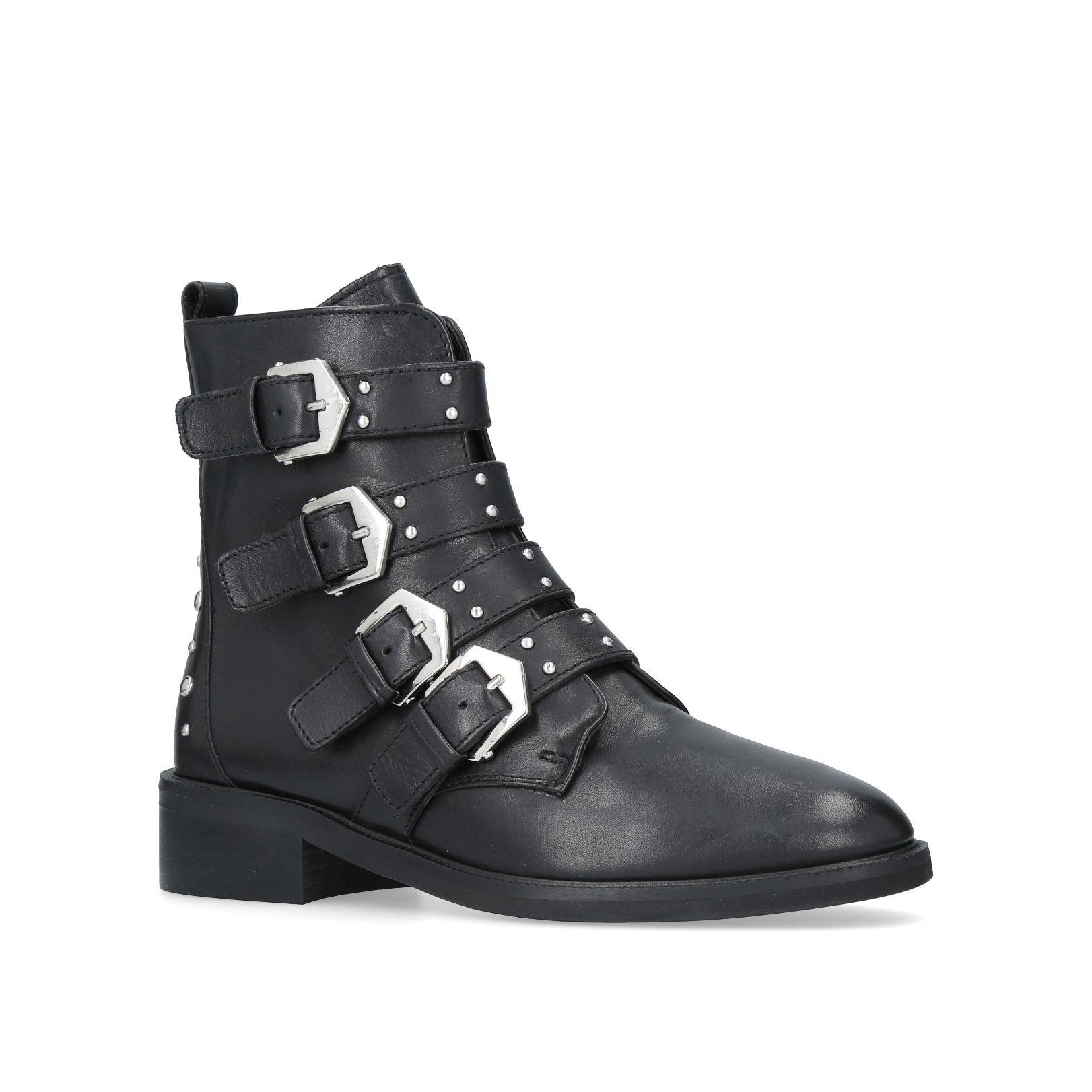 Black · Scant Black Flat Ankle Boots By Carvela Kurt Geiger ...