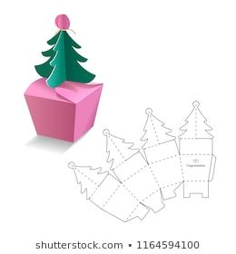 Box Template Images Stock Photos Vectors Shutterstock In 2020 Gift Box Template Paper Box Template Christmas Crafts