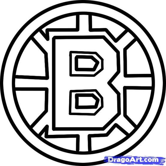 Boston Bruins B Pumpkin Carving Template