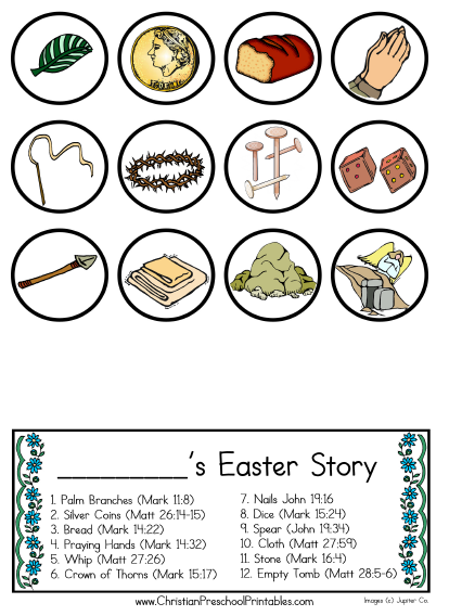 This is a photo of Nifty Resurrection Egg Story Printable