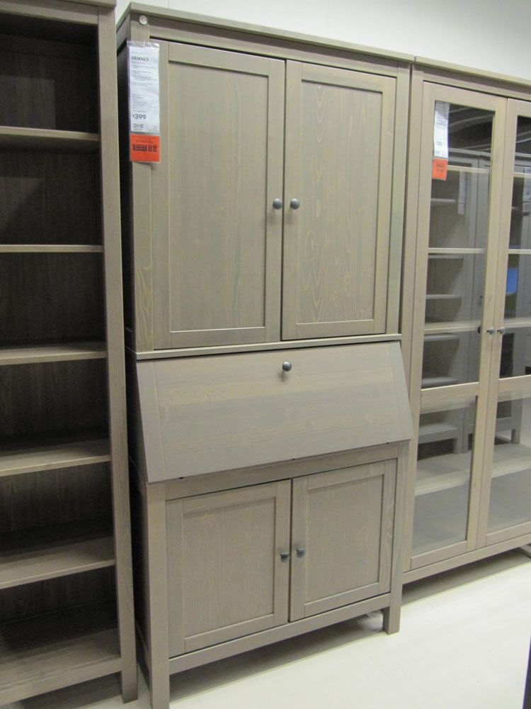 ikea hemnes secretary and shelving units anna totten. Black Bedroom Furniture Sets. Home Design Ideas