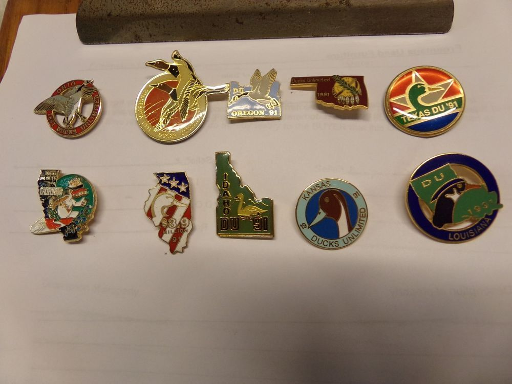 Ten Ducks Unlimited 1991 State Pins Du Collectible Duck Pin Ducksunlimited Pins Ebay Duck Pins Ducks Unlimited Duck