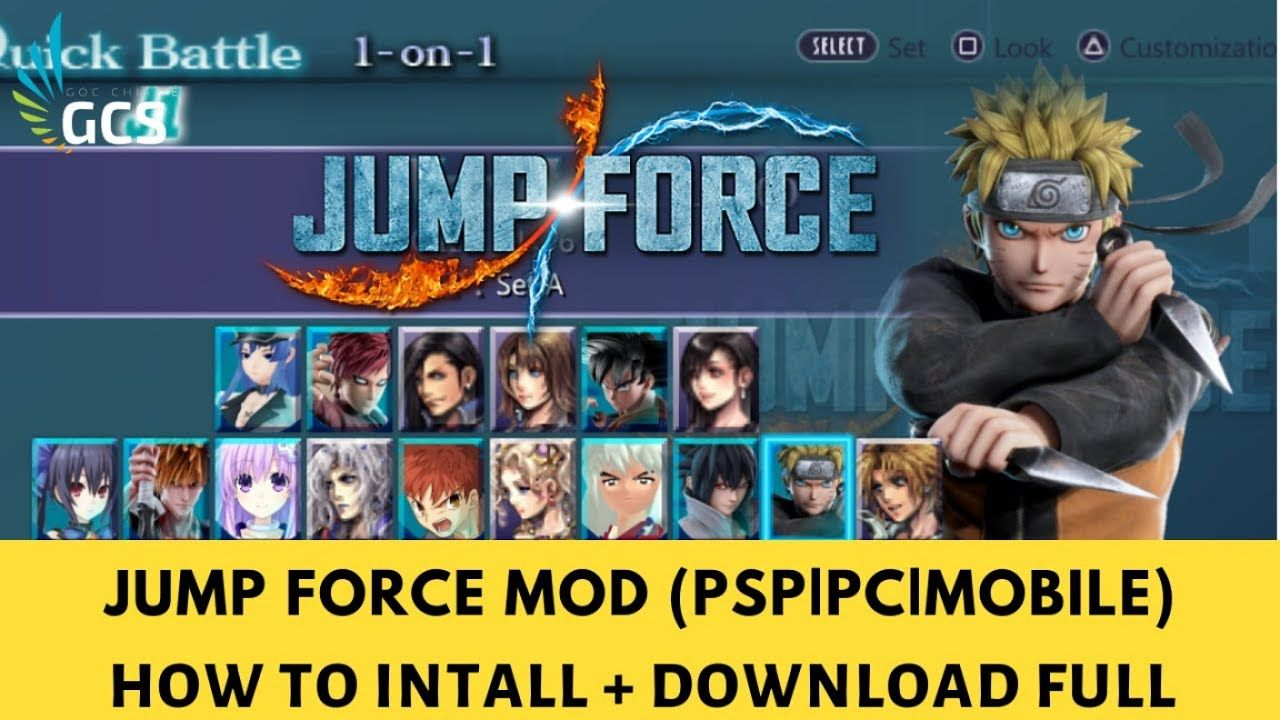 (PSPPCMOBILE) JUMP FORCE ANIME WARS MOD FULL DOWNLOAD