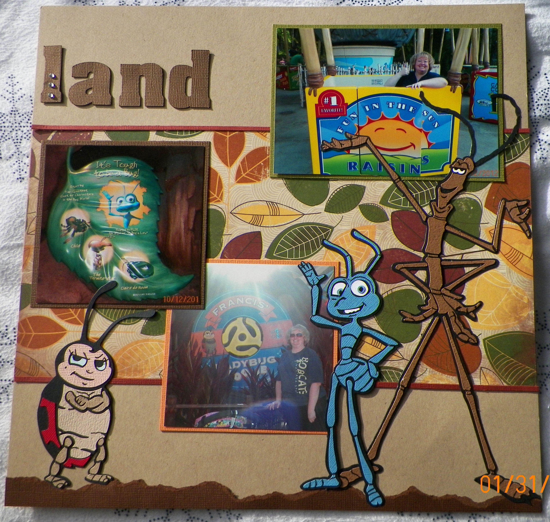 Scrapbook ideas adventure - Handmade Scrapbook Layout Pg 2 A Bug S Land California Adventure Kit From