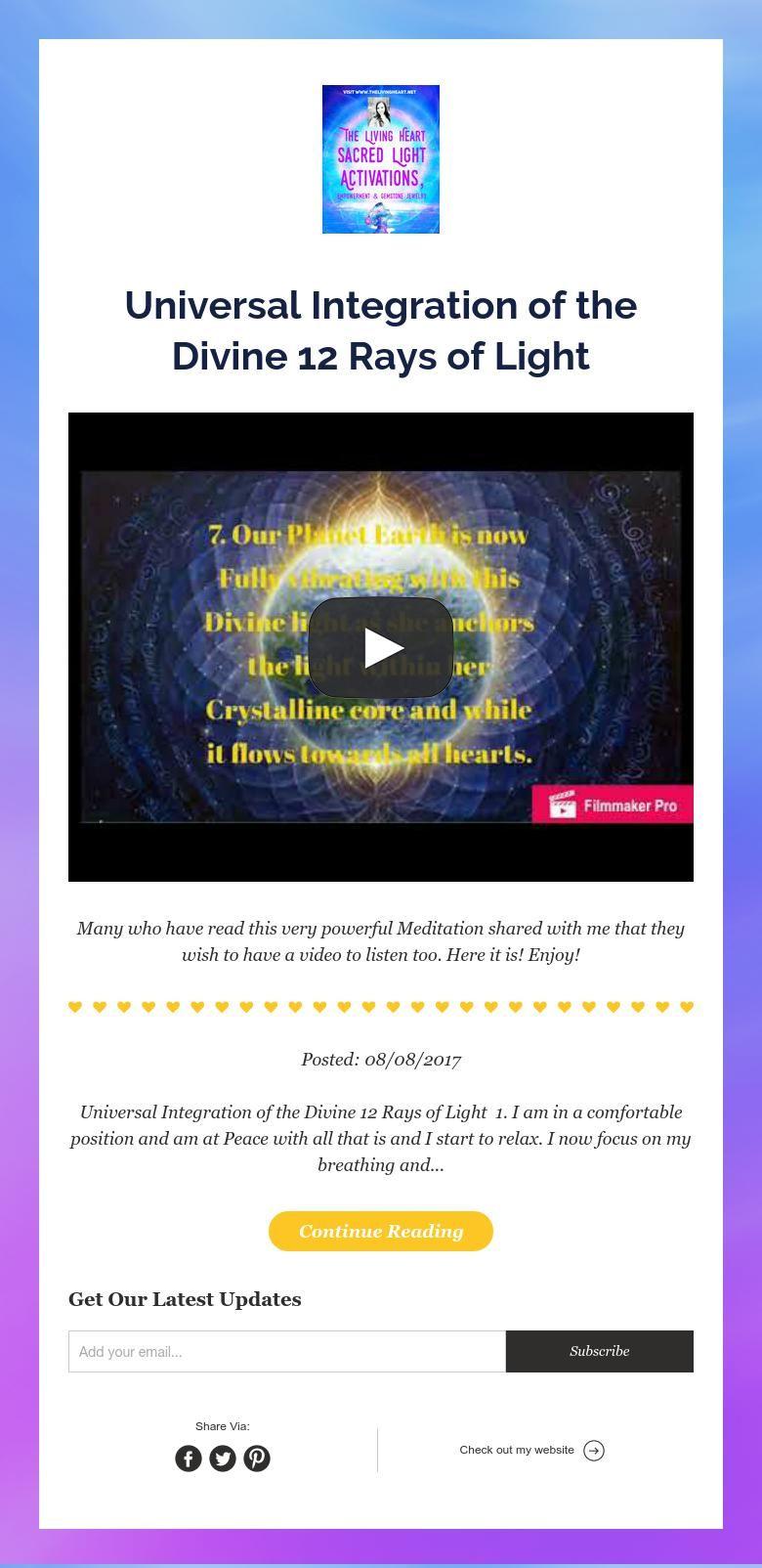 Universal Integration Of The Divine 12 Rays Of Light Power Of Meditation Meditation Reading