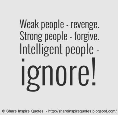 Weak People Revenge Strong People Forgive Intelligent
