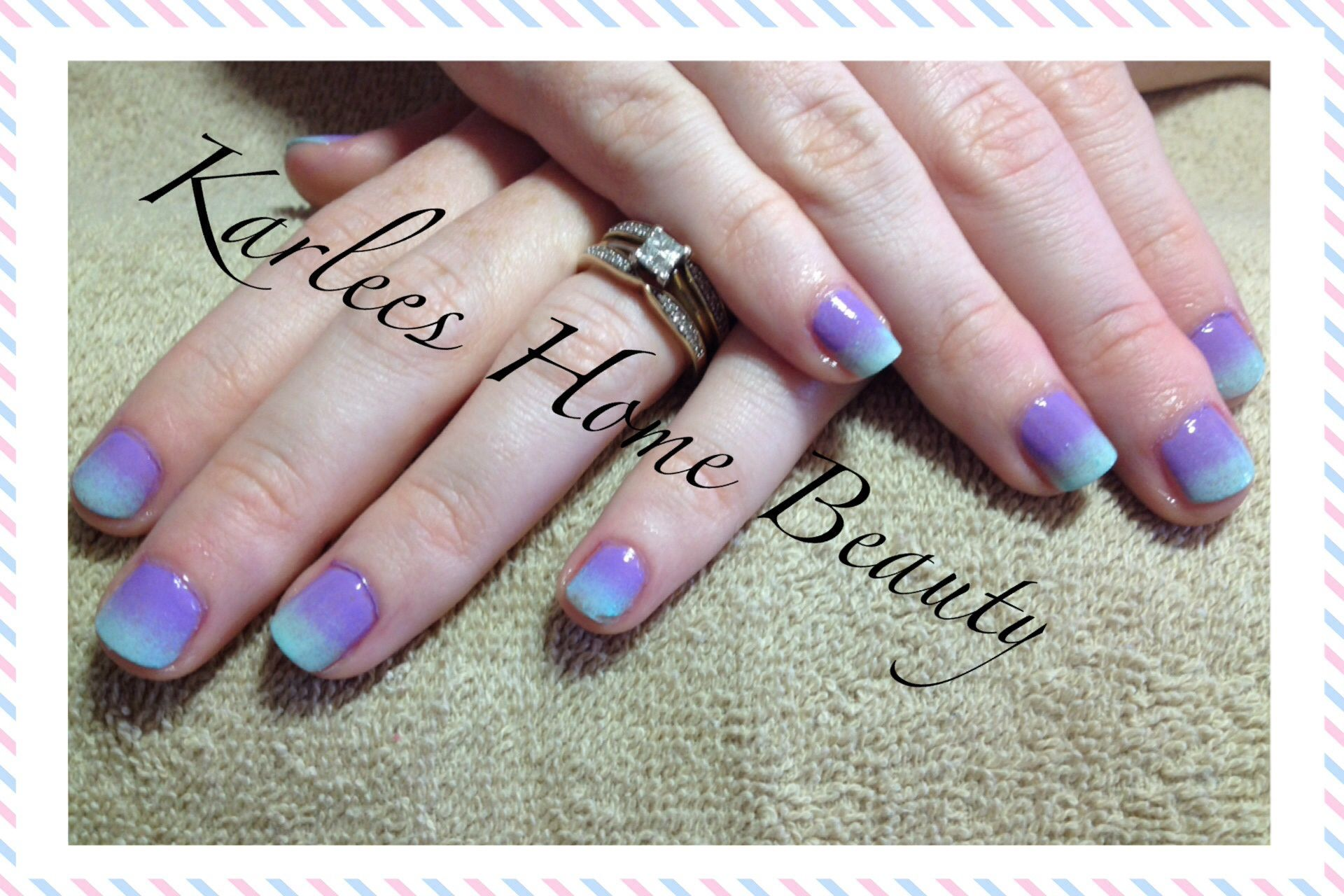 Colour Fade Sponging Nail Art Using Chad Prevost Color Pastel