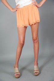 Littlest Things Shorts-Peach