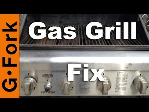 Gas Grill Repair Grill Wont Light Or Stay Lit Gardenfork Youtube Gas Grill Grill Light Grilling