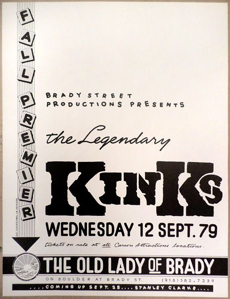 Kinks - The Old Lady of Brady Tulsa 1979