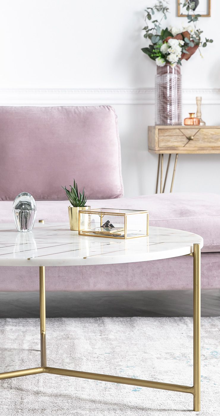 Table Basse Ronde En Marbre Blanc Sillon En 2020 Avec Images Table Basse Ronde Table Basse Mobilier De Salon