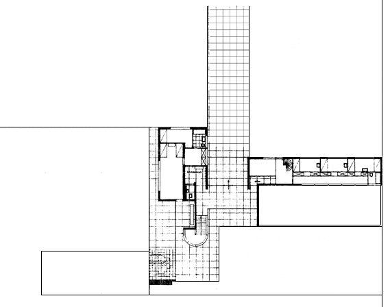 mies van der rohe gerick house plan drawings pinterest. Black Bedroom Furniture Sets. Home Design Ideas